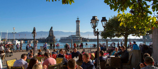 Harbour in Lindau at Lake Constance