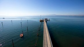 Pier in Immenstaad at Lake Constance