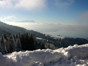Pfänder in Bregenz at Lake Constance in winter