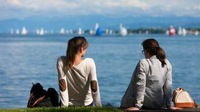 Relax at Lake Constance in summer