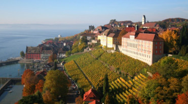 Meersburg at Lake Constance in autumn