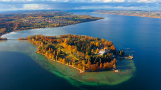 Flower Island Mainau in autumn