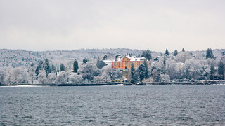 Castle Mainau at Lake Constance in winter