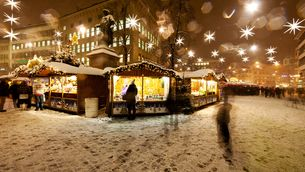 Christmas Market in the city of stars St.Gallen close to Lake Constance