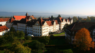 Salem Monastery and Palace  at Lake Constance in autumn
