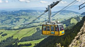 Jakobsbad-Kronberg cable car close to Lake Constance
