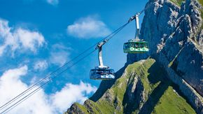 Säntis cableway close to Lake Constance