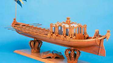 """Historic Model Ship Vasaorden"" Kressbronn at Lake Constance"