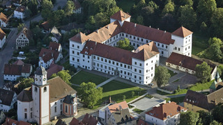 Aerial photograph of Meßkirch Castle close to Lake Constance