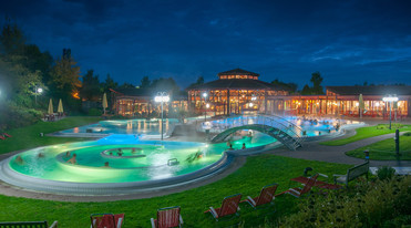 Sonnenhof spa at night, Bad Saulgau close to Lake Constance