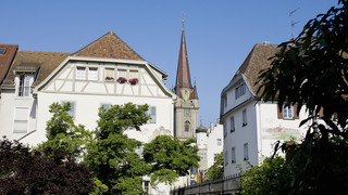 Historic city center of Radolfzell at Lake Constance
