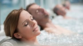Couple in the Vitalium spa in Bad Wurzach close to Lake Constance