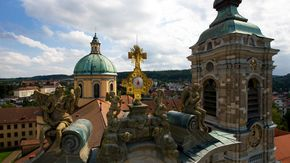 Upper Swabian Baroque Road: Basilica in Weingarten close to Lake Constance