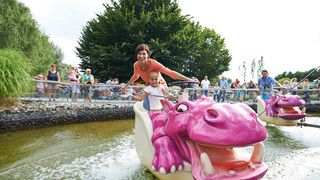Hippos in the Ravensburger Spieleland close to Lake Constance