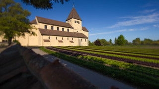 St. Georg church on the Reichenau island at Lake Constance