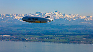 Lake Constance Airship with the Säntis in the background