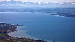 Lake Constance with view of the Alps