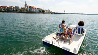 Paddleboat on Lake Constance
