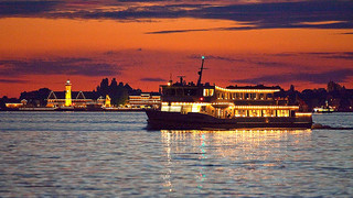 Ship on Lake Constance in Lindau