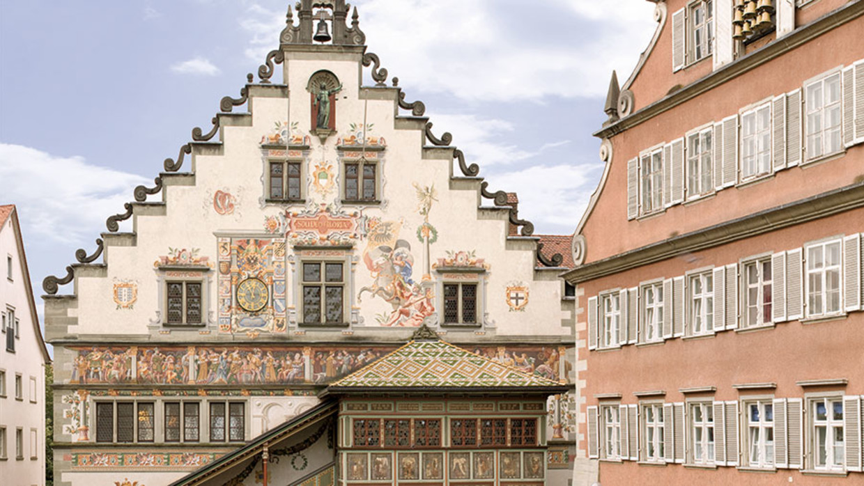 Old City Hall In Lindau At Lake Constance