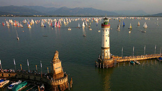 Port of Lindau at Lake Constance