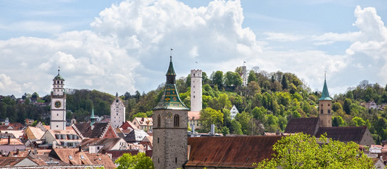 Panorama von Ravensburg in der Nähe des Bodensees | © Panoramic view of Ravensburg close to lake Constance