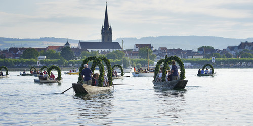 Traditional festival in Radolfzell at Lake Constance