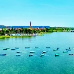View on Radolfzell at Lake Constance