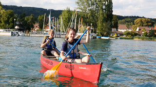 Canoeing on Lake Constance