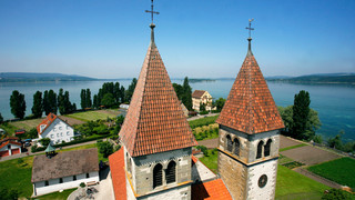 Island of Reichenau at Lake Constance