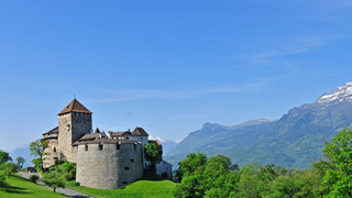 Castle Vaduz in the Principality of Liechtenstein close to Lake Constance