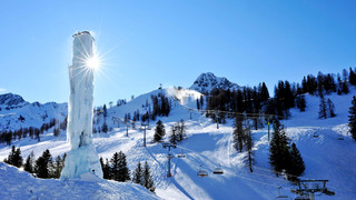 Ski area and Ice Climbing in Liechtenstein close to Lake Constance