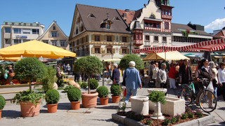 Market square in Dornbirn close to Lake Constance