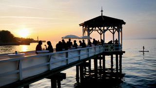 Jetty in Bregenz at Lake Constance