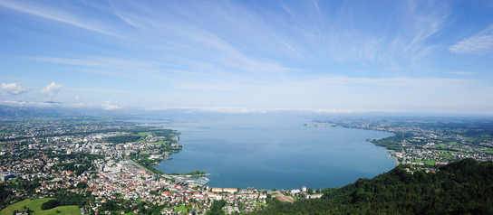 Panoramic view of Lake Constance from the Pfänder