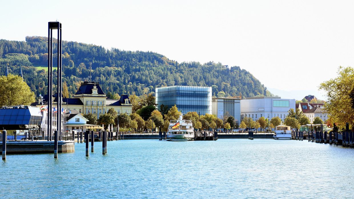 Port In Bregenz At Lake Constance