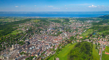 St. Gall from above close to Lake Constance