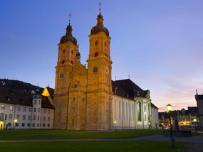 Cathedral in St. Gall close to Lake Constance
