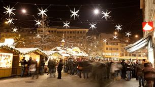 Christmas market in St. Gall close to Lake Constance