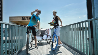 Cycling in Altnau at Lake Constance