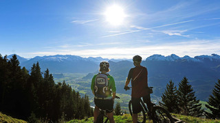 Mountainbike in Liechtenstein in der Nähe des Bodensees | © Liechtenstein Marketing