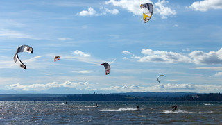 Kitesurfing on Lake Constance