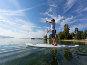 Stand up paddling on Lake Constance
