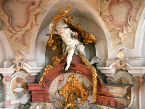Baroque church close to Lake Constance