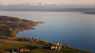 Panoramic view of Lake Constance