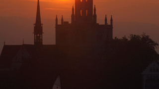 Sunset with the Konstanz cathedral in the background