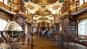 Abbey library in St.Gall close to Lake Constance