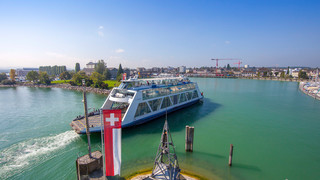 Ferry infront of Romanshorn | © Bodensee Ticket