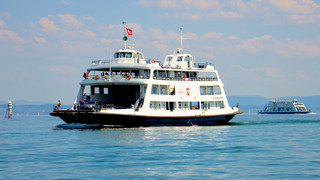 Ferry on the widest point of Lake Constance | © Bodensee Ticket