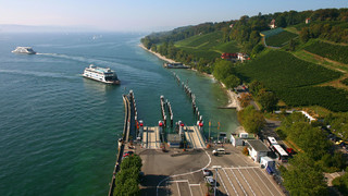 Ferry port of Meersburg at Lake Constance